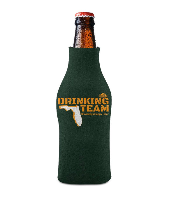 Green and Orange Drinking Team Bottle Sleeve