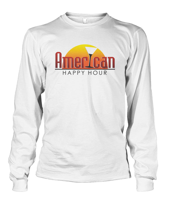 American Happy Hour T-Shirt Unisex Long Sleeve