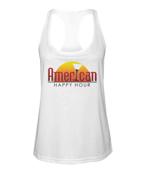 American Happy Hour Women's Racerback Sport Tank
