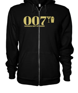 007 Shaken Not Stirred 2018 Gildan Zip-Up Hoodie