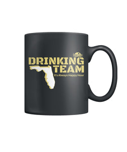 Black and Gold Drinking Team Color Coffee Mug