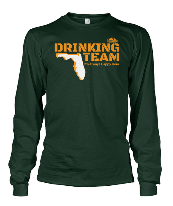 Green and Orange Drinking Team Unisex Long Sleeve