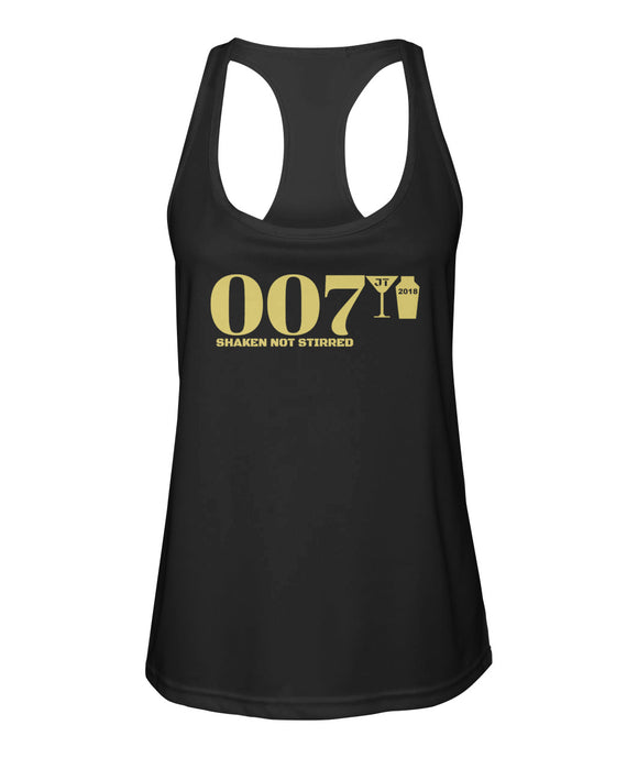007 Shaken Not Stirred 2018 Women's Racerback Sport Tank