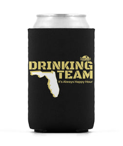 Black and Gold Drinking Team Can Sleeve