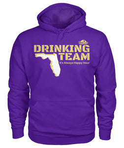 Purple and Gold Drinking Team Gildan Hoodie