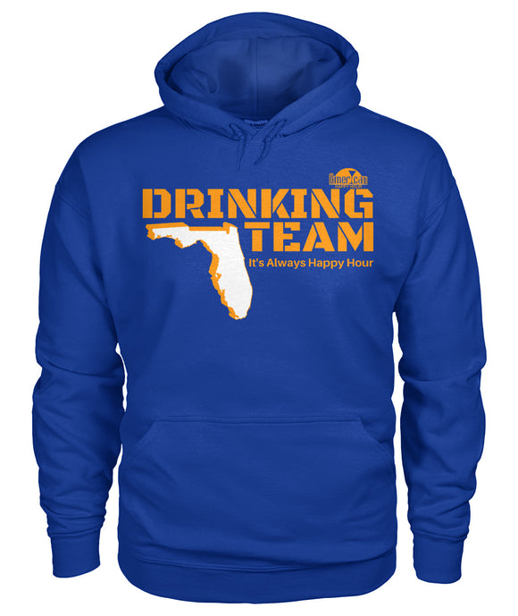 Orange and Blue Florida Drinking Team Gildan Hoodie