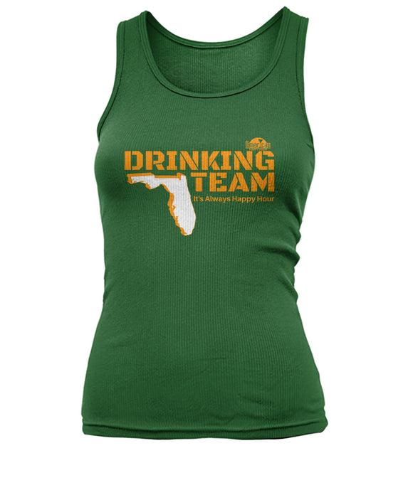 Green and Orange Drinking Team Women's Tank Top