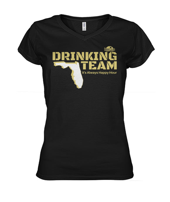 Black and Gold Drinking Team Women's V-Neck