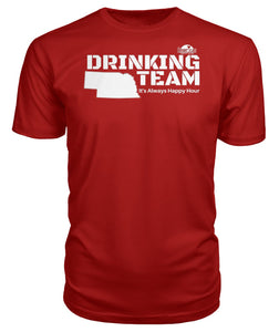 RED & WHITE NEBRASKA DRINKING TEAM Premium Unisex Tee