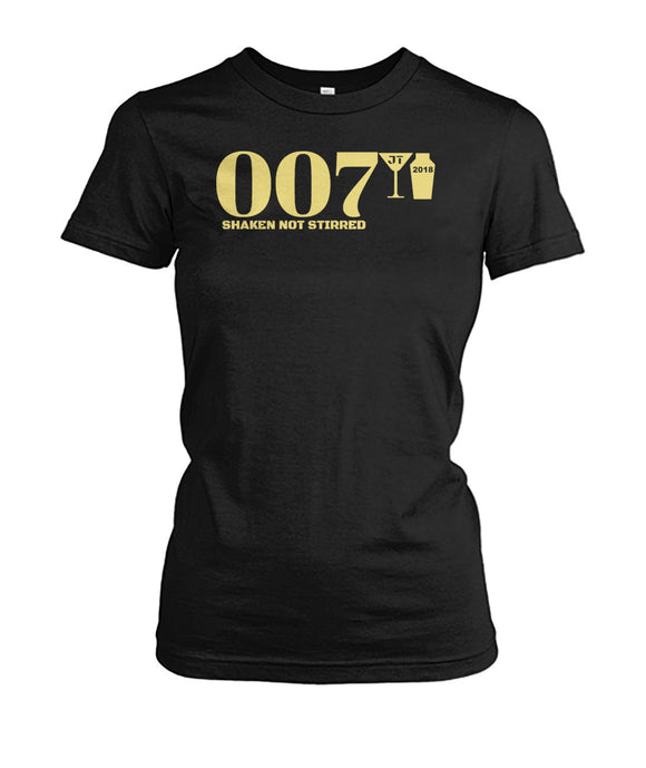 007 Shaken Not Stirred 2018 Women's Crew Tee