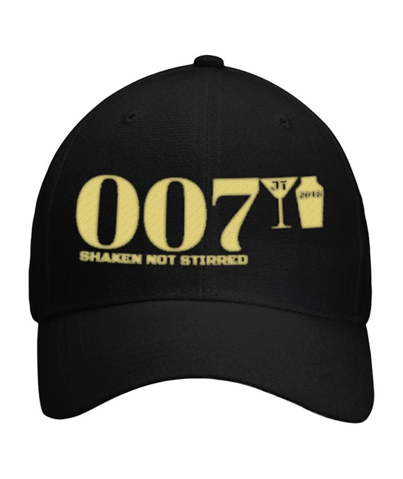 007 Shaken Not Stirred 2018 Curved Bill Velcro Strap