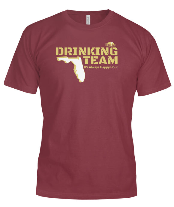 Garnet and Gold Florida Drinking Team Bella Canvas Tee