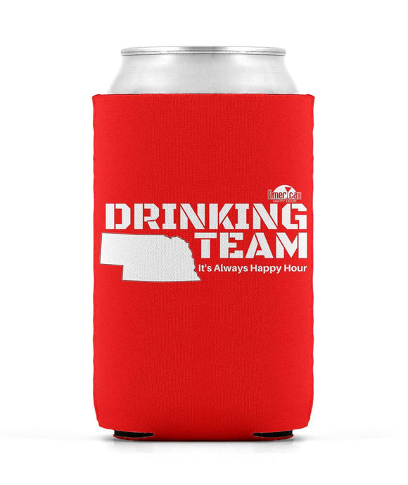 RED & WHITE DRINKING TEAM Can Sleeve