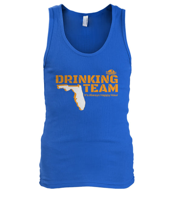 Orange and Blue Florida Drinking Team Men's Tank Top