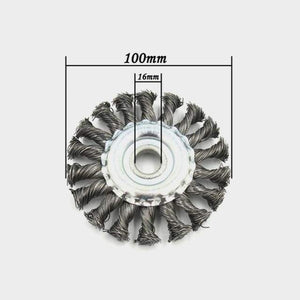 Sweet And Rosy™ 100mm Garden Lawn Mower Steel Wire Grinding Wheel Break-proof Rounded Edge Weed Trimmer