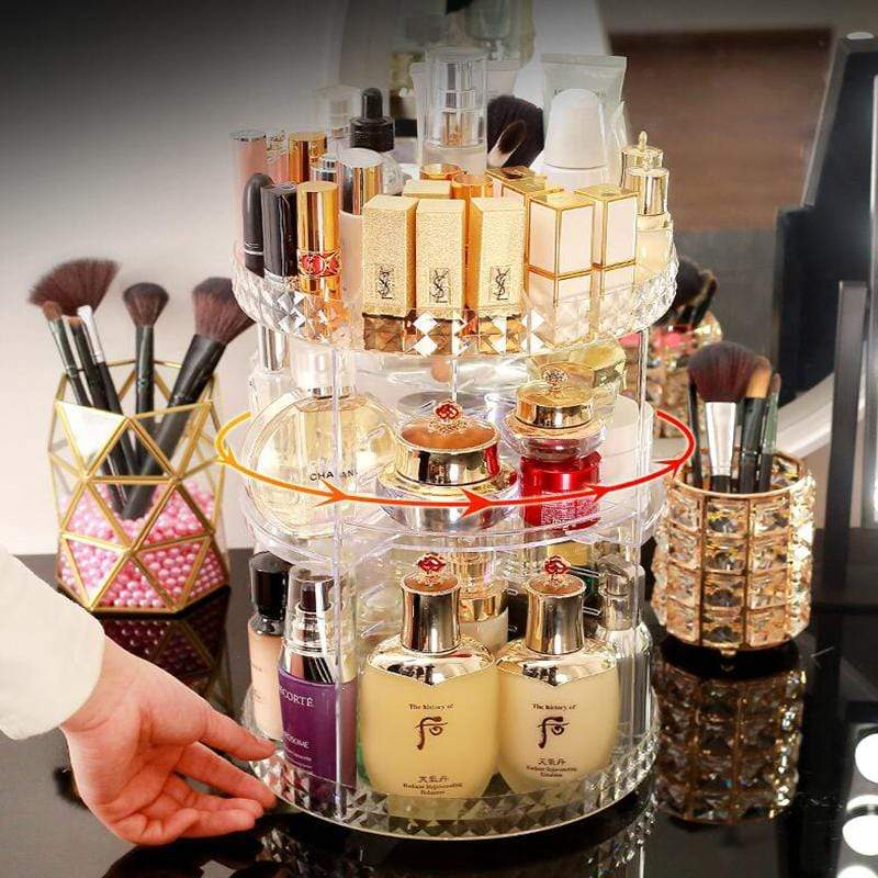 Sweet And Rosy™ 360° Rotating Crystal Cosmetic Storage