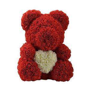 Sweet And Rosy™ 40cm red bear 40cm Rose Teddy Bear Heart Design