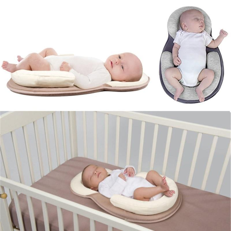 Sweet And Rosy™ Beige Fold N Go Anti-Rollover Portable Baby Bed