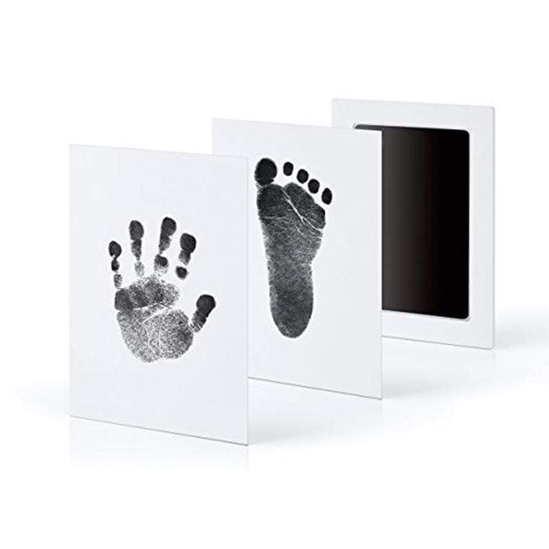 Sweet And Rosy™ Black Baby Handprint And Footprint Inkless Souvenirs Pad