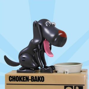 Sweet And Rosy™ Black Dog Coin Money Bank