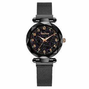 Sweet And Rosy™ Black Magnetic Starry Sky Watch