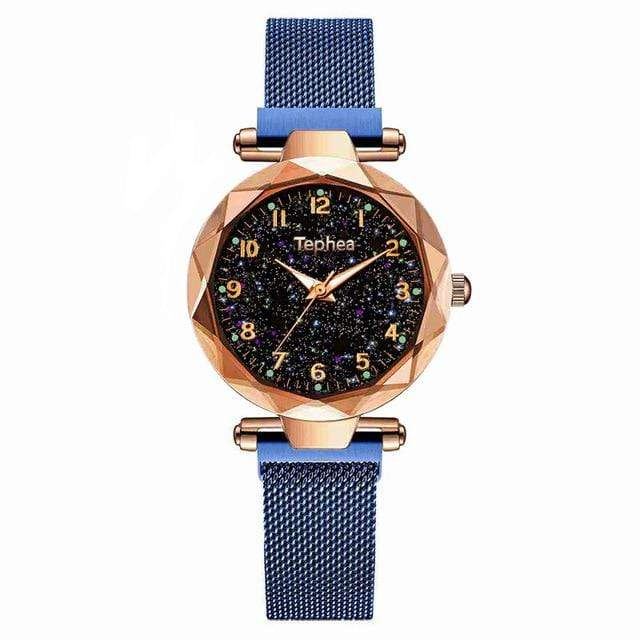 Sweet And Rosy™ blue gold Magnetic Starry Sky Watch