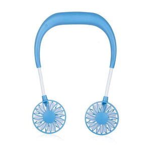Sweet And Rosy™ Blue Portable Hanging Neck Sports Fan