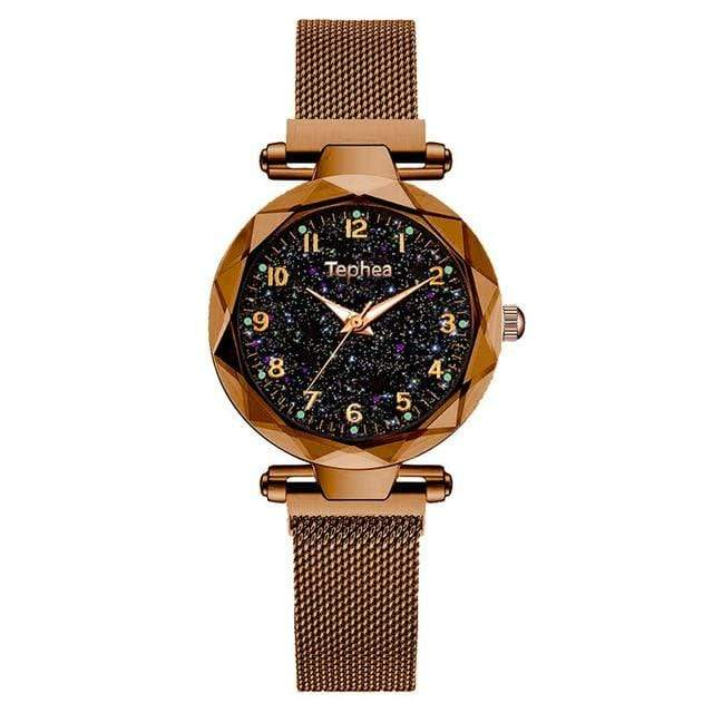 Sweet And Rosy™ brown Magnetic Starry Sky Watch