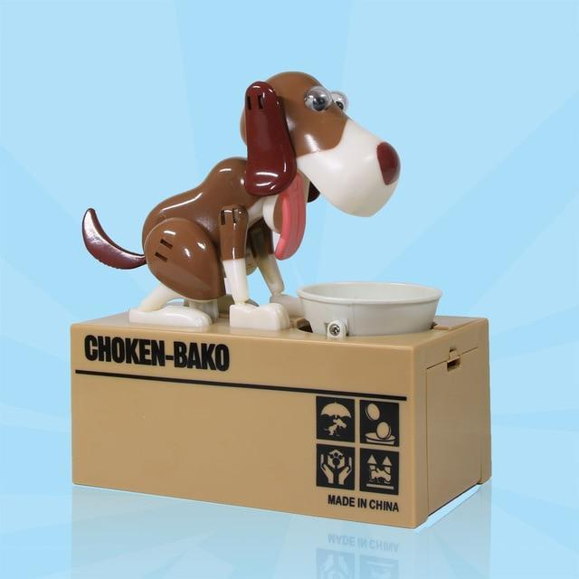 Sweet And Rosy™ Brown White Dog Coin Money Bank