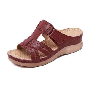 Sweet And Rosy™ Burgundy / 12 Orthopedic Open Toe Sandals