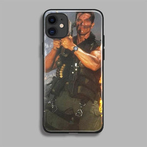 Sweet And Rosy™ For iPhone 11 / Commando 1 / Tempered Glass case Arnold Schwarzenegger Phone Case