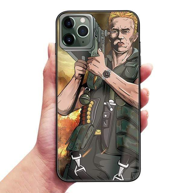 Sweet And Rosy™ For iPhone 11 PRO / Commando 5 / Silicone case Arnold Schwarzenegger Phone Case