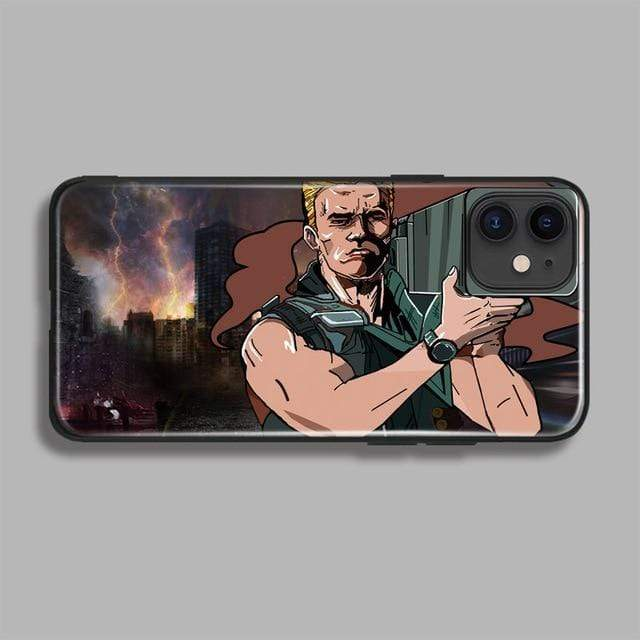 Sweet And Rosy™ For iPhone 11pro MAX / Commando 2 / Silicone case Arnold Schwarzenegger Phone Case