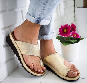 Sweet And Rosy™ Gold / 35 Women Comfy Platform Sandal Shoes
