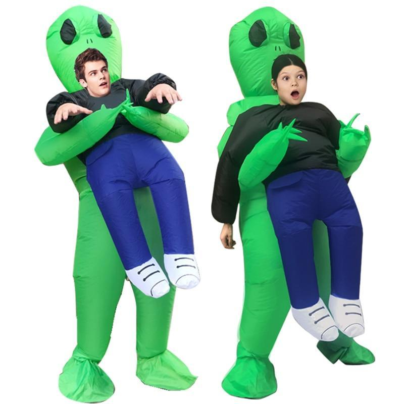 Sweet And Rosy™ Green Alien Carrying Human Costume