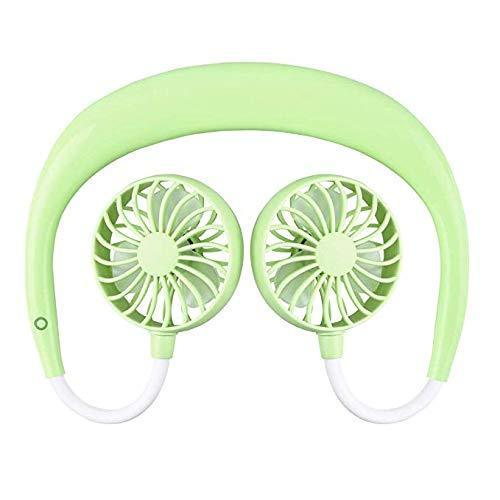 Sweet And Rosy™ Green Portable Hanging Neck Sports Fan