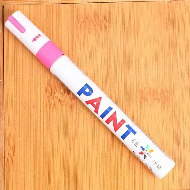 Sweet And Rosy™ Pink Waterproof Non-Fading Tire Paint Pen