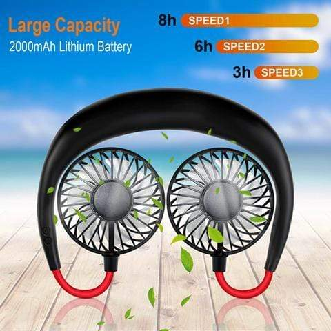 Sweet And Rosy™ Portable Hanging Neck Sports Fan