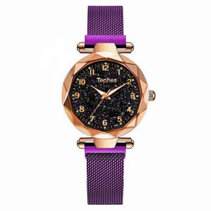 Sweet And Rosy™ purple gold Magnetic Starry Sky Watch