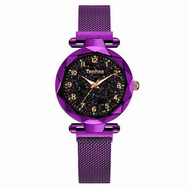 Sweet And Rosy™ Purple Magnetic Starry Sky Watch