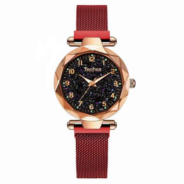 Sweet And Rosy™ red gold Magnetic Starry Sky Watch