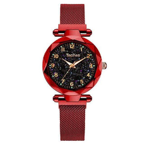 Sweet And Rosy™ Red Magnetic Starry Sky Watch