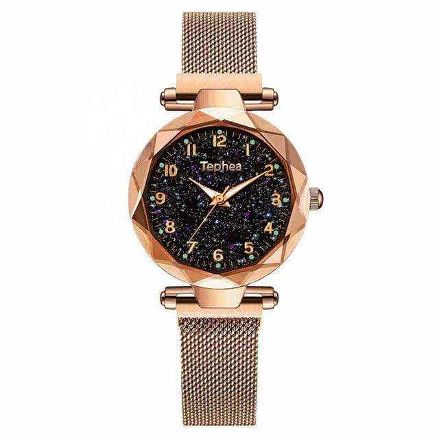 Sweet And Rosy™ Rose Gold Magnetic Starry Sky Watch