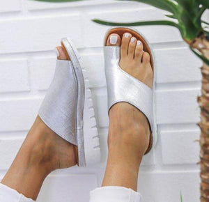 Sweet And Rosy™ Silver / 35 Women Comfy Platform Sandal Shoes