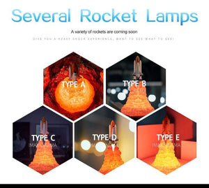 Sweet And Rosy™ Space Shuttle Lamp