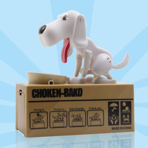 Sweet And Rosy™ White Dog Coin Money Bank