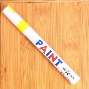 Sweet And Rosy™ Yellow Waterproof Non-Fading Tire Paint Pen