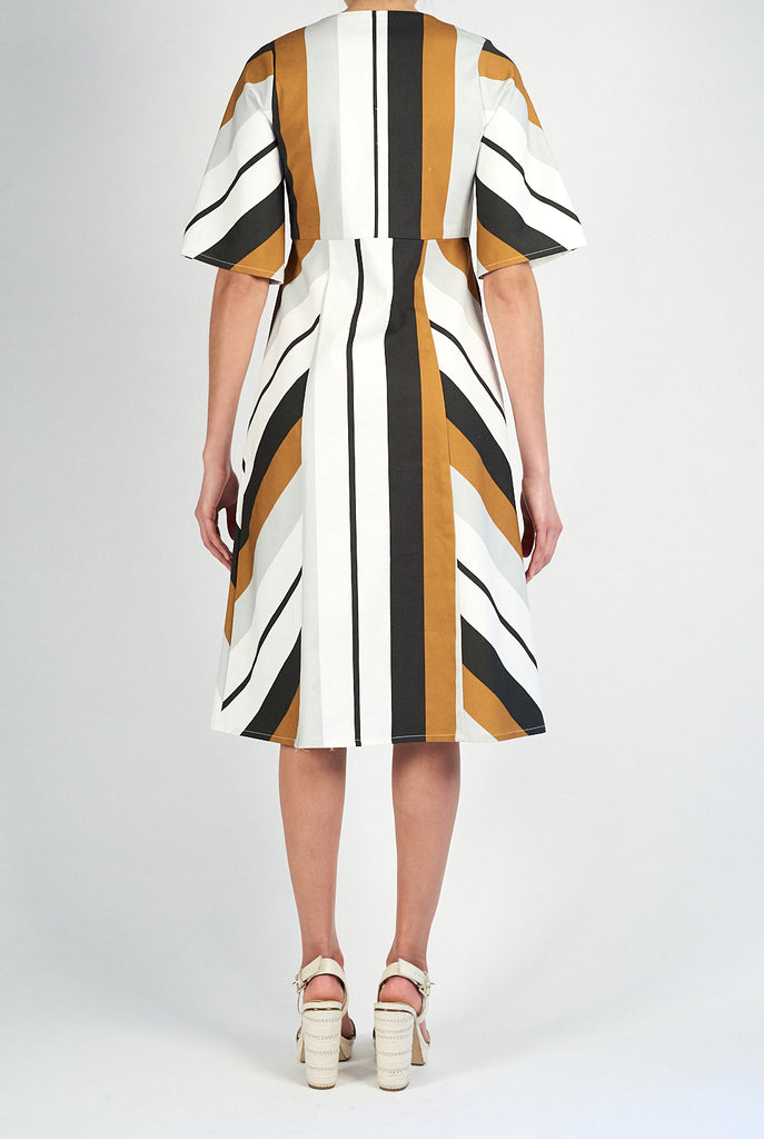 Halston Dress • Luggage Stripe