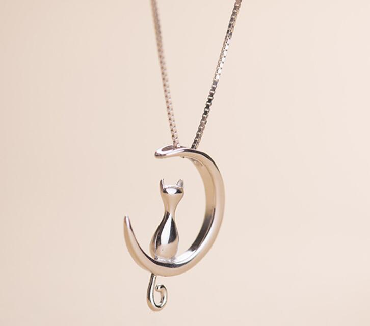 Under The Moonlight Cat Necklace