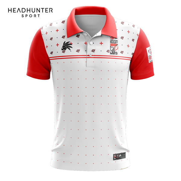 HSBC RUGBY 7S SERIES SINGAPORE 2019 MERCHANDISE ENGLAND POLO